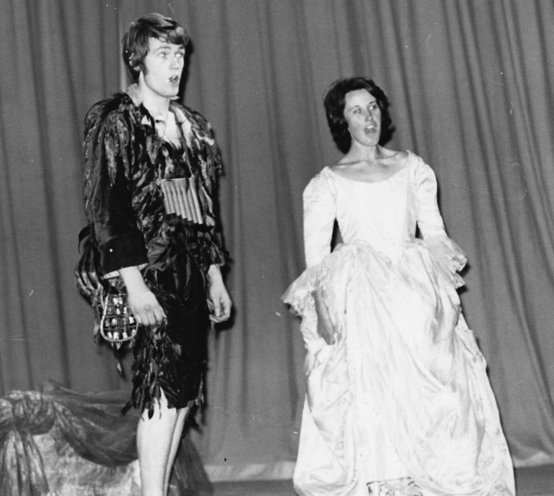 Russell Smythe and Janette Holt in The Magic Flute 1970